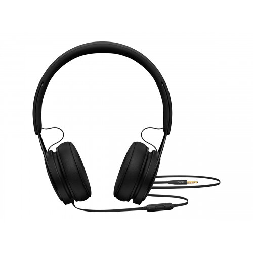 Beats EP - Headphones with mic - on-ear - wired - 3.5 mm jack - noise isolating - black - for 10.5-inch iPad Pro; 12.9-inch iPad Pro; 9.7-inch iPad; 9.7-inch iPad Pro; iPad; iPad 1; 2; iPad Air; iPad Air 2; iPad mini; iPad mini 2; 3; 4; iPad with Retina d