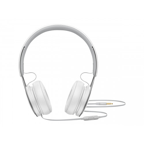 Beats EP - Headphones with mic - on-ear - wired - 3.5 mm jack - noise isolating - white - for 10.5-inch iPad Pro; 12.9-inch iPad Pro; 9.7-inch iPad; 9.7-inch iPad Pro; iPad; iPad 1; 2; iPad Air; iPad Air 2; iPad mini; iPad mini 2; 3; 4; iPad with Retina d