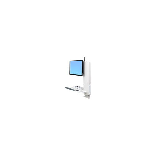 """Ergotron StyleView Sit-Stand Vertical Lift, High Traffic Area - Wall mount for LCD display / keyboard / mouse - white - screen size: 24"""""""