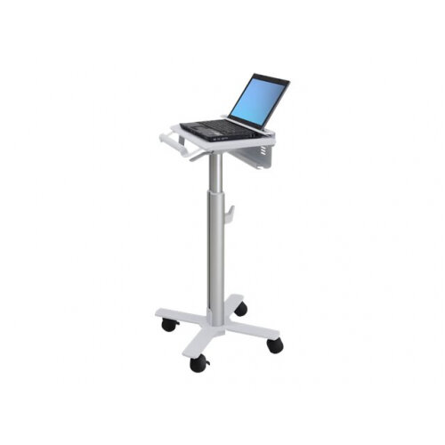 Ergotron StyleView Laptop Cart, SV10 - Cart for notebook - medical - metal - white, aluminium - screen size: up to 17""
