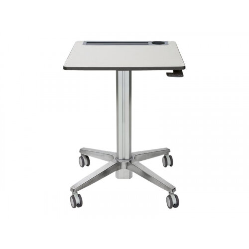 Ergotron LearnFit Adjustable - Table - mobile - school - rectangular - white