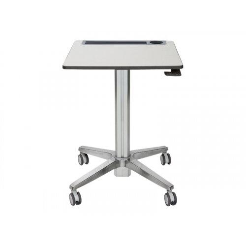 Ergotron LearnFit Sit-Stand Desk - Table - mobile - school - rectangular - white silver