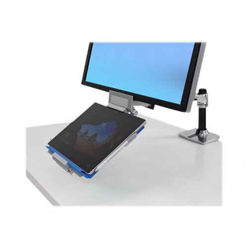 "Ergotron Tandem - Mounting kit (articulating arm, holder) for LCD display / tablet - brushed aluminium - screen size: 20""-27"" - desk-mountable"