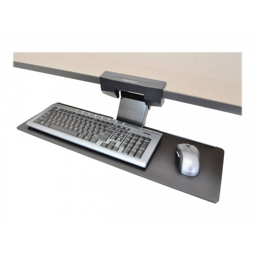 Ergotron Neo-Flex Underdesk Keyboard Arm - Keyboard/mouse arm mount tray - under-desk mountable - black