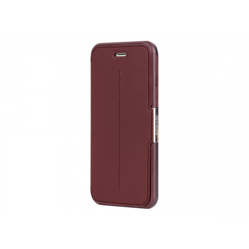 OtterBox Strada - Flip cover for mobile phone - genuine leather, polycarbonate - chic revival - for Apple iPhone 6 Plus, 6s Plus