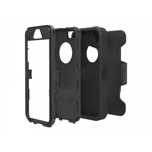 OtterBox Defender Series Apple iPhone 5s - Protective cover for mobile phone - high-impact polycarbonate, synthetic rubber - black/black - for Apple iPhone 5s