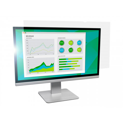 "3M Anti-Glare Filter for 24"" Widescreen Monitor - Display anti-glare filter - 24"" wide - clear"