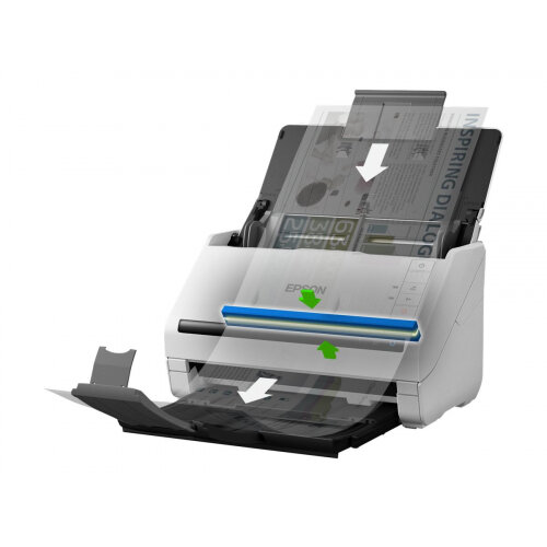Epson WorkForce DS-530N - Document scanner - Duplex - A4 - 600 dpi x 600 dpi - up to 35 ppm (mono) / up to 35 ppm (colour) - ADF (50 sheets) - up to 4000 scans per day - USB 3.0, Gigabit LAN