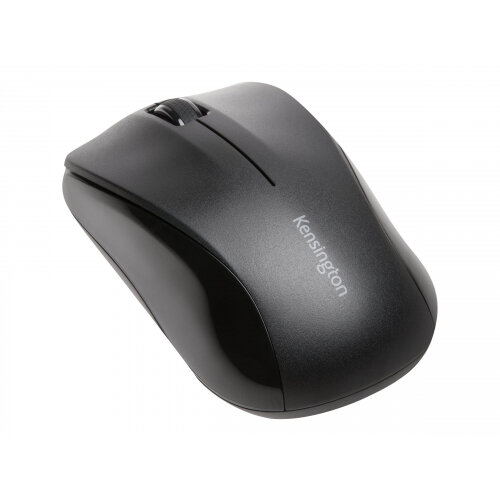 Kensington Mouse for Life - Mouse - right and left-handed - optical - 3 buttons - wireless - 2.4 GHz - USB wireless receiver - black