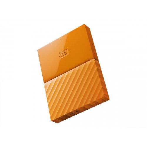 WD My Passport WDBYFT0030BOR - Hard drive - encrypted - 3 TB - external (portable) - USB 3.0 - 256-bit AES - orange