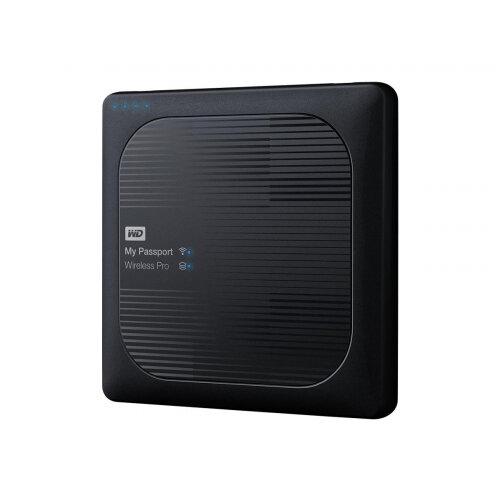 WD My Passport Wireless Pro WDBP2P0020BBK - Network drive - 2 TB - HDD 3 TB x 1 - RAM 512 MB - USB 3.0 / 802.11ac