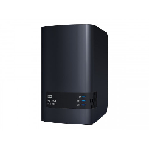 WD My Cloud EX2 Ultra WDBVBZ0080JCH - Personal cloud storage device - 2 bays - 8 TB - HDD 4 TB x 2 - RAID 0, 1, JBOD - RAM 1 GB - Gigabit Ethernet - iSCSI