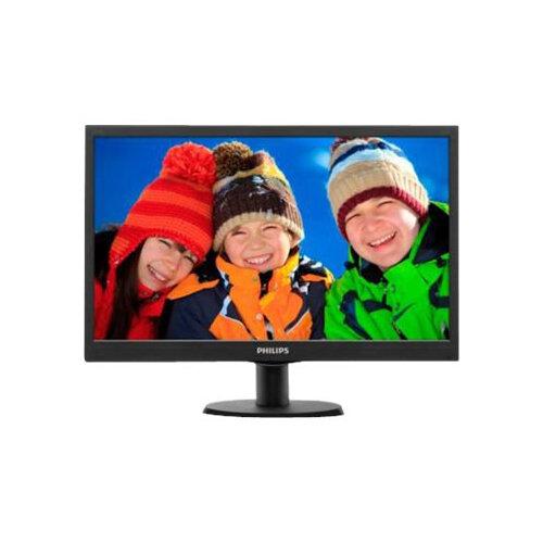 """Philips V-line 203V5LSB26 - LED Computer Monitor - 19.5"""" - 1600 x 900 - 200 cd/m² - 600:1 - 5 ms - VGA - textured black, black hairline"""