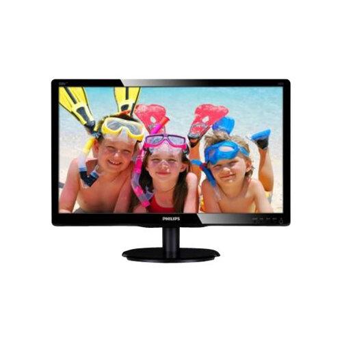 "Philips V-line 200V4LAB2 - LED Computer Monitor - 20"" (19.5"" viewable) - 1600 x 900 - 200 cd/m² - 600:1 - 5 ms - DVI-D, VGA - speakers - textured black, glossy black"