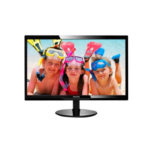 "Philips V-line 246V5LHAB - LED Computer Monitor - 24"" - 1920 x 1080 Full HD (1080p) - 250 cd/m² - 1000:1 - 1 ms - HDMI, VGA - speakers - textured black, glossy black"