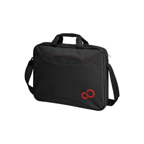 """Fujitsu Casual Entry Case 16 - Notebook carrying case - Laptop Bag - 15.6"""" - black with red details - for LIFEBOOK A514, A555, E544, E554, E744, E754, E8410, T730, TH700, U904; Stylistic Q550"""