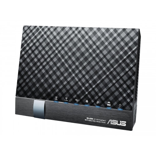 ASUS DSL-AC56U - Wireless router - DSL modem - 4-port switch - GigE - 802.11a/b/g/n/ac - Dual Band