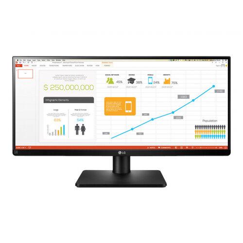 "LG 29UB67-B - LED Computer Monitor - 29"" - 2560 x 1080 - AH-IPS - 300 cd/m² - 1000:1 - 5 ms - 2xHDMI, DVI-D, DisplayPort - speakers - matte black"