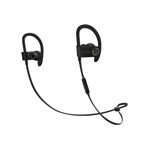 Beats Powerbeats3 - Earphones with mic - in-ear - over-the-ear mount - Bluetooth - wireless - noise isolating - black - for 10.5-inch iPad Pro; 12.9-inch iPad Pro; 9.7-inch iPad (5th generation, 6th generation); 9.7-inch iPad Pro; iPad Air; iPad Air 2; iP