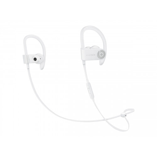 Beats Powerbeats3 - Earphones with mic - in-ear - over-the-ear mount - Bluetooth - wireless - noise isolating - white - for 10.5-inch iPad Pro; 12.9-inch iPad Pro; 9.7-inch iPad (5th generation, 6th generation); 9.7-inch iPad Pro; iPad Air; iPad Air 2; iP