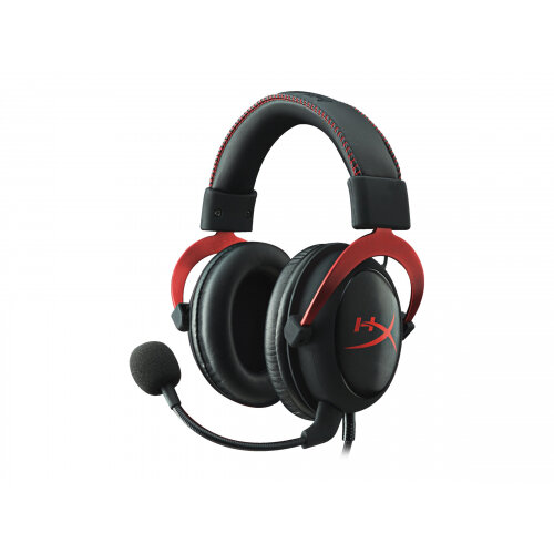 HyperX Cloud II - Headset - full size - wired - red
