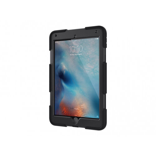 Griffin Survivor All-Terrain - Protective case for tablet - rugged - silicone, polycarbonate, PET - black - for Apple iPad