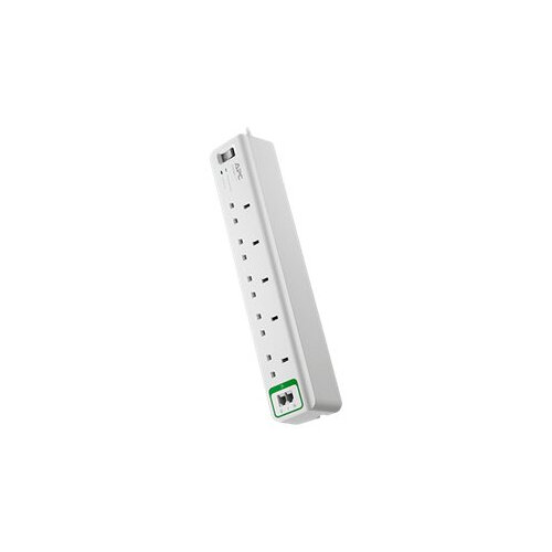 APC SurgeArrest Essential - Surge protector - AC 230 V - output connectors: 5 - United Kingdom - white