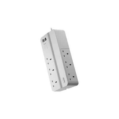 APC SurgeArrest Essential - Surge protector - AC 230 V - output connectors: 6 - United Kingdom - white