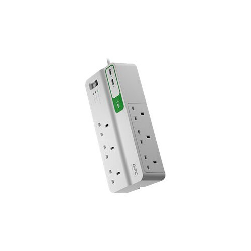 APC SurgeArrest Essential - Surge protector - AC 230 V - output connectors: 8 - United Kingdom - white