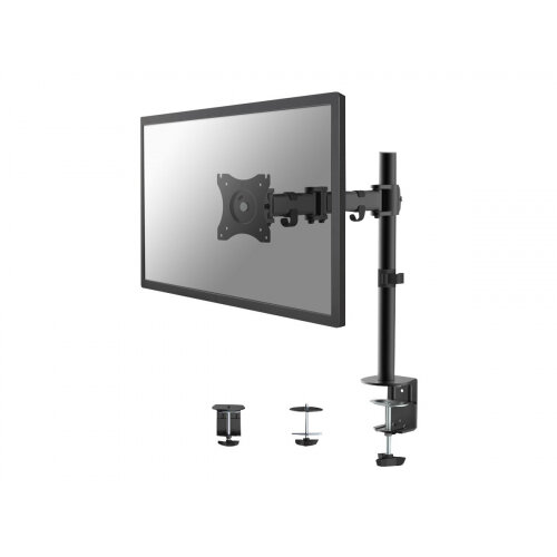 "NewStar NeoMounts Full Motion Desk Mount (clamp &grommet) for 10-30"" Monitor Screen, Height Adjustable - Adjustable arm for LCD display - black - screen size: 10""-30"" - desk-mountable"