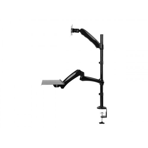 "NewStar Desk Mount (clamp &grommet) for a Monitor (10-27"" screen) AND Keyboard &Mouse (Height Adjustable) - Black - Desk mount for LCD display / keyboard / mouse - black - screen size: 10""-27"""
