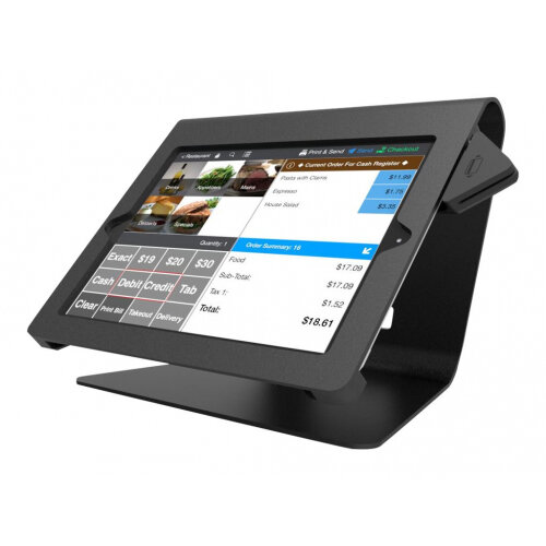"Compulocks Nollie - iPad 9.7"" POS Counter Top Kiosk - Black - Stand for tablet - black - desktop stand - for Apple iPad Air; iPad Air 2"