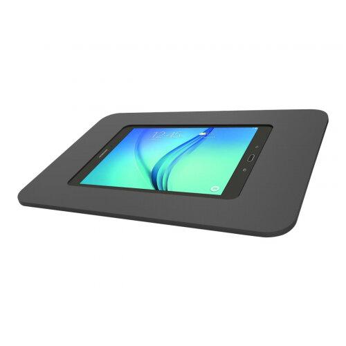 "Compulocks Rokku Capsule - iPad 9.7"" / Galaxy Tab A 9.7"" / S2 9.7"" / S3 9.7"" Wall Mount / Counter Top Kiosk - Black - Mounting kit (anti-theft enclosure) for tablet - lockable - high-grade aluminium - black - mounting interface: 100 x 100 mm - surface mou"