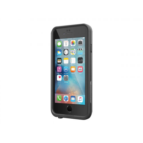 LifeProof Fre - Protective waterproof case for mobile phone - silicone, polycarbonate, polypropylene, synthetic rubber - black - for Apple iPhone 6, 6s