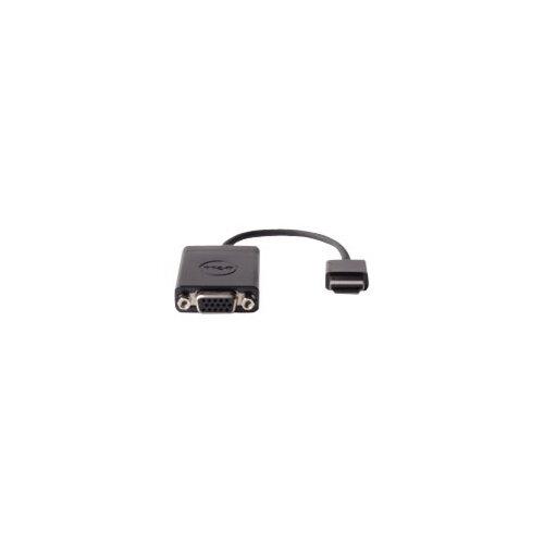 Dell - Video adapter - HDMI / VGA - HDMI (M) to HD-15 (F) - black - for Chromebook 3120, 7310; Inspiron 5458, 5558; Latitude 13 7350, E7250, E7440, E7450