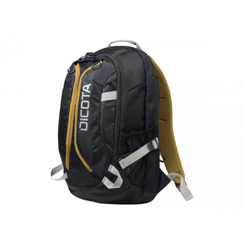 """Dicota Active Laptop Bag 15.6"""" - Notebook carrying backpack - 15.6"""" - black, yellow"""