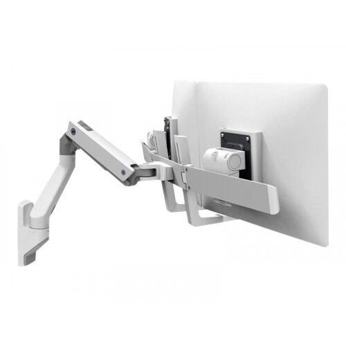 """Ergotron HX Dual Monitor Wall Mount Arm - Mounting kit (handle, articulating arm, wall mount, 2 pivots, mounting hardware, hinge, extension part) for 2 monitors - white - screen size: up to 32"""" - wall-mountable"""