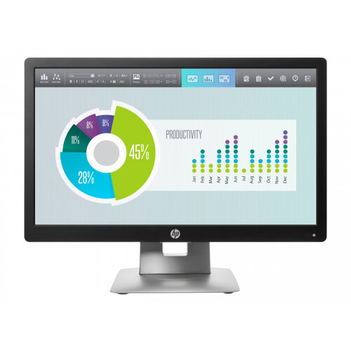 "HP EliteDisplay E202 - LED Computer Monitor - 20"" (20.0"" viewable) - 1600 x 900 - IPS - 250 cd/m² - 1000:1 - 7 ms - HDMI, VGA, DisplayPort - black"