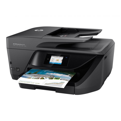 HP Officejet Pro 6970 All-in-One - Multifunction printer - colour - ink-jet - Legal (216 x 356 mm)/A4 (210 x 297 mm) (original) - A4/Legal (media) - up to 30 ppm (copying) - up to 30 ppm (printing) - 225 sheets - 33.6 Kbps - USB 2.0, LAN, Wi-Fi(n), USB ho