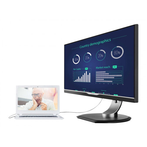 "Philips Brilliance B-line 258B6QUEB - LED Computer Monitor - 25"" - 2560 x 1440 - IPS - 350 cd/m² - 1000:1 - 5 ms - HDMI, DVI-D, VGA, DisplayPort, USB - speakers - textured black with black stand"