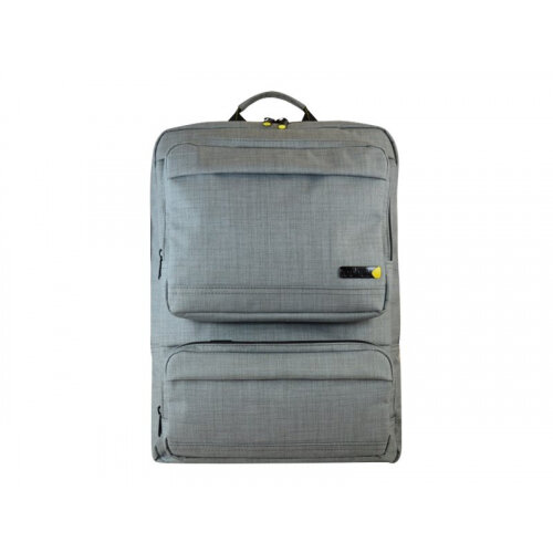 "techair EVO Magnetic Laptop Backpack - Notebook carrying backpack - 15.6"" - grey texturised"