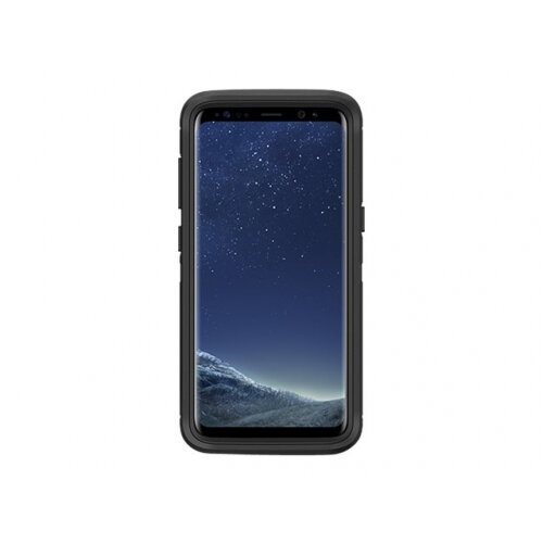 OtterBox Defender Series - Back cover for mobile phone - rugged - polycarbonate, synthetic rubber - black - for Samsung Galaxy S8
