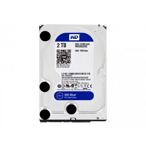 """WD Blue WD20EZRZ - Hard drive - 2 TB - internal - 3.5"""" - SATA 6Gb/s - 5400 rpm - buffer: 64 MB"""