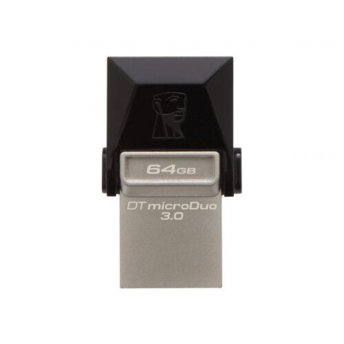Kingston DataTraveler microDuo - USB flash drive - 64 GB - USB 3.0
