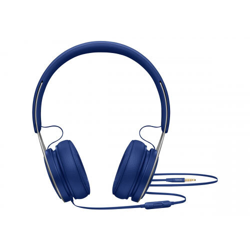 Beats EP - Headphones with mic - on-ear - wired - 3.5 mm jack - noise isolating - blue - for 10.5-inch iPad Pro; 12.9-inch iPad Pro; 9.7-inch iPad; 9.7-inch iPad Pro; iPad; iPad 1; 2; iPad Air; iPad Air 2; iPad mini; iPad mini 2; 3; 4; iPad with Retina di