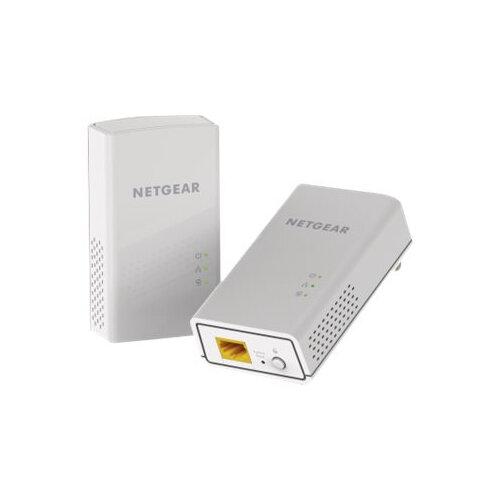 NETGEAR Powerline PL1000 + Extra Outlet - Bridge - GigE, HomePlug AV (HPAV) 2.0 - wall-pluggable (pack of 2)