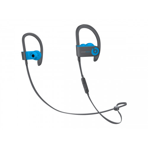 Beats Powerbeats3 - Earphones with mic - in-ear - over-the-ear mount - Bluetooth - wireless - noise isolating - flash blue - for 10.5-inch iPad Pro; 12.9-inch iPad Pro; 9.7-inch iPad (5th generation, 6th generation); 9.7-inch iPad Pro; iPad Air; iPad Air