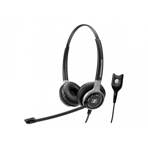 Sennheiser Century SC 660 TC - Headset - on-ear - wired - Easy Disconnect - black with silver