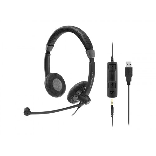 Sennheiser SC 75 USB MS - Culture Plus Mobile - headset - on-ear - wired - black