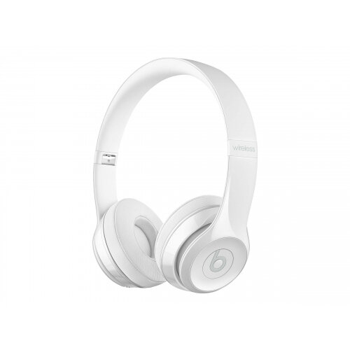Beats Solo3 - Headphones with mic - on-ear - Bluetooth - wireless - white gloss - for 10.5-inch iPad Pro; 12.9-inch iPad Pro; 9.7-inch iPad (5th generation, 6th generation); iPad Air; iPad Air 2; iPad mini 2; 3; 4; iPhone 5, 5c, 5s, 6, 6 Plus, 6s, 6s Plus